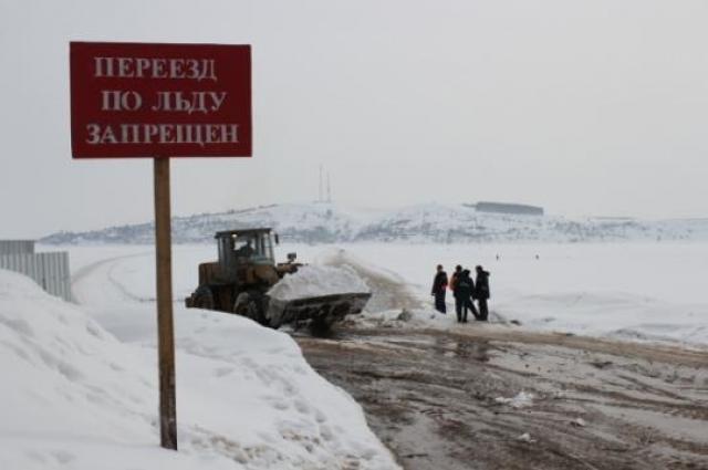 Выезжать на лед в несанкционированных местах запрещено.