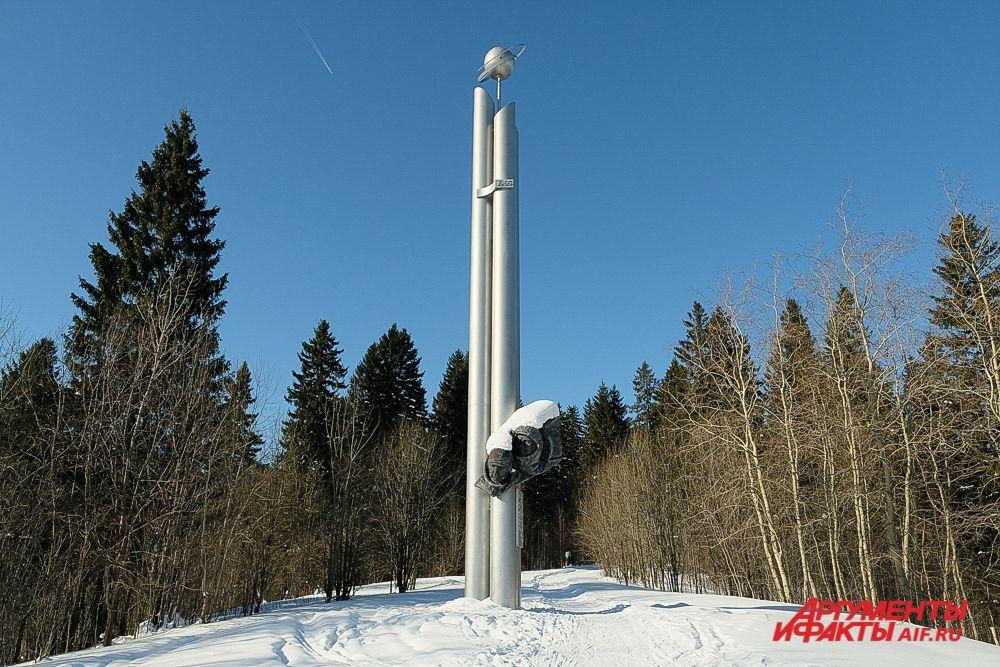 Памятный комплекс в честь космонавтов Беляева и Леонова в Усолье.