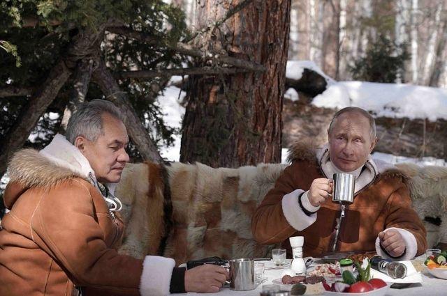 Владимир Путин отдыхал в сибирской тайге вместе с Сергеем Шойгу.