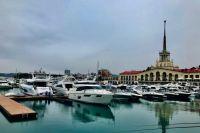 Морской порт в Сочи.