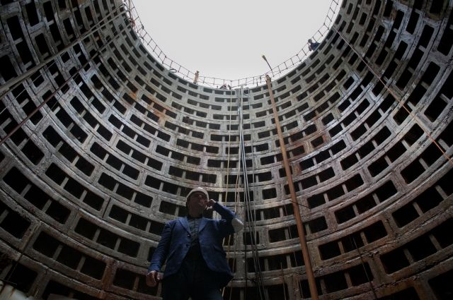 Открытие Охтинского канализационного коллектора