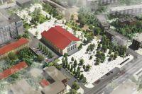 В Оренбурге показали дизайн-проект сквера перед областной филармонией.