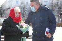 Мария Колтакова с мэром Воронежа Вадимом Кстениным.