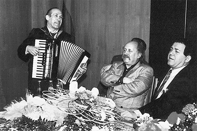 Эдуард Ханок, Владимир Мулявин и Иосиф Кобзон.