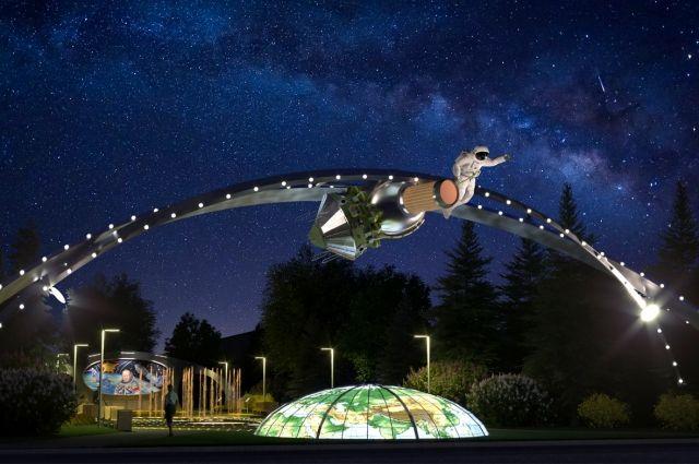 Один из проектов «Созидающего мира» - «Человек во Вселенной». Комплекс посвящён памяти великого человека, первого космонавта, вышедшего в открытый космос, – Алексея Архиповича Леонова.