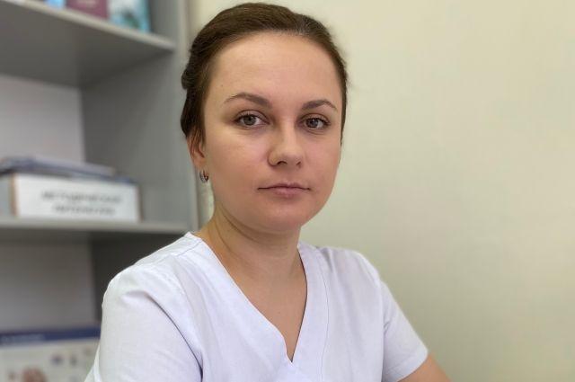 Врач Елена Гончарова.