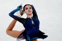 Анна Щербакова на чемпионате мира по фигурному катанию в Стокгольме.