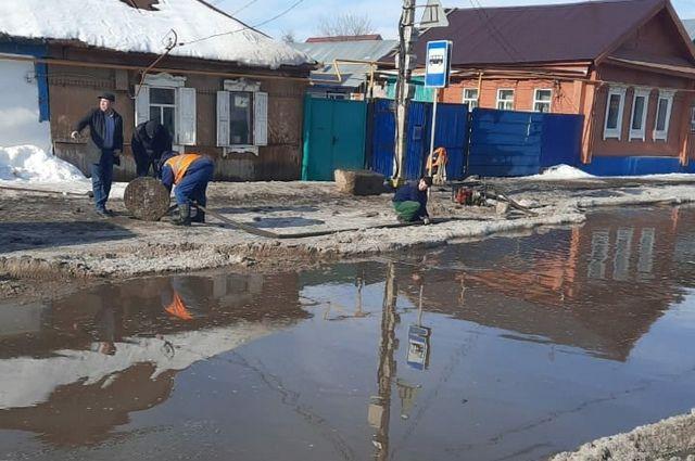Микрорайон в Ленинском районе Уфы подтопило талыми водами