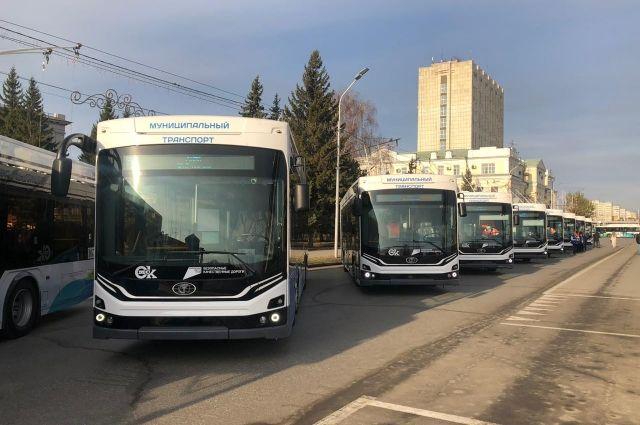 Презентация новых троллейбусов.