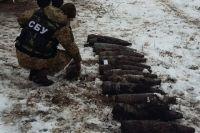 В Луганской области правоохранители обнаружили два тайника с боеприпасами