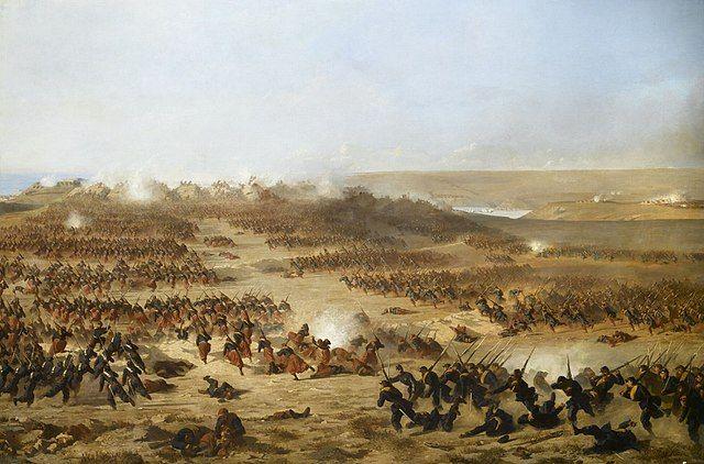 Генеральная атака Севастополя союзниками 6 июня 1855 года. Поль Александр Протэ, 1858