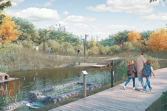 Экотропу на сваях проложат по обоим берегам Чермянки, а в нескольких местах соединят переходами через реку. Этот путь соединит жилые массивы Отрадного и Южного Медведкова.