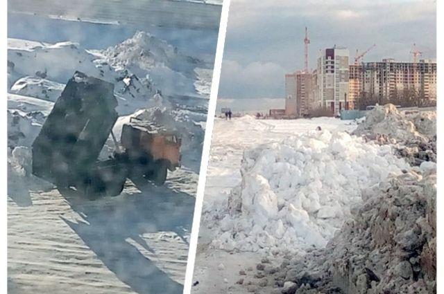 О снежной свалке в старом аэропорту нам рассказал читатель. Оказалось, такая проблема есть во всех районах города.