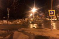 место ДТП в Самаре напротив дома № 53 по улице Воронежской
