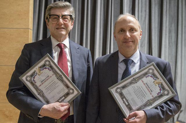 Главный художник «АиФ» Андрей Дорофеев (справа) на вручении Национальной премии «Лучшие книги и издательства года».