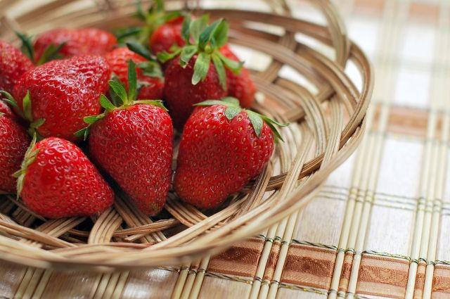 В теплицах Оренбуржья собрали первый урожай клубники.