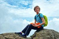 Путь в 5895 метров путешественник преодолел за семь дней.