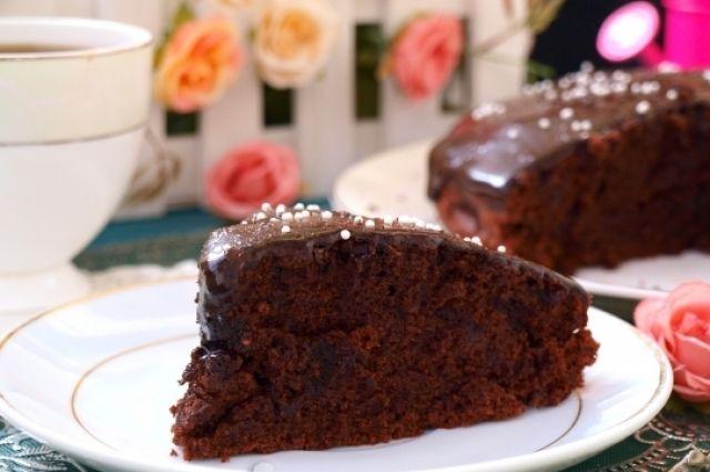 Постный шоколадный пирог: рецепт вкусного десерта
