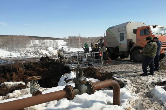 В Бижбулякском районе Башкирии произошёл разлив нефти