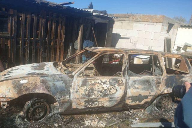 В Гурьевском районе в сгоревшем автомобиле обнаружены останки мужчины