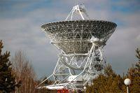 Радиотелескоп РТ-32 радиоастрономической обсерватории «Бадары», расположенной в Тункинской долине в Бурятии.