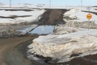 Подтопление низководного моста в районе села Чиликта произошло вечером 5 апреля из-за активного таяния снега