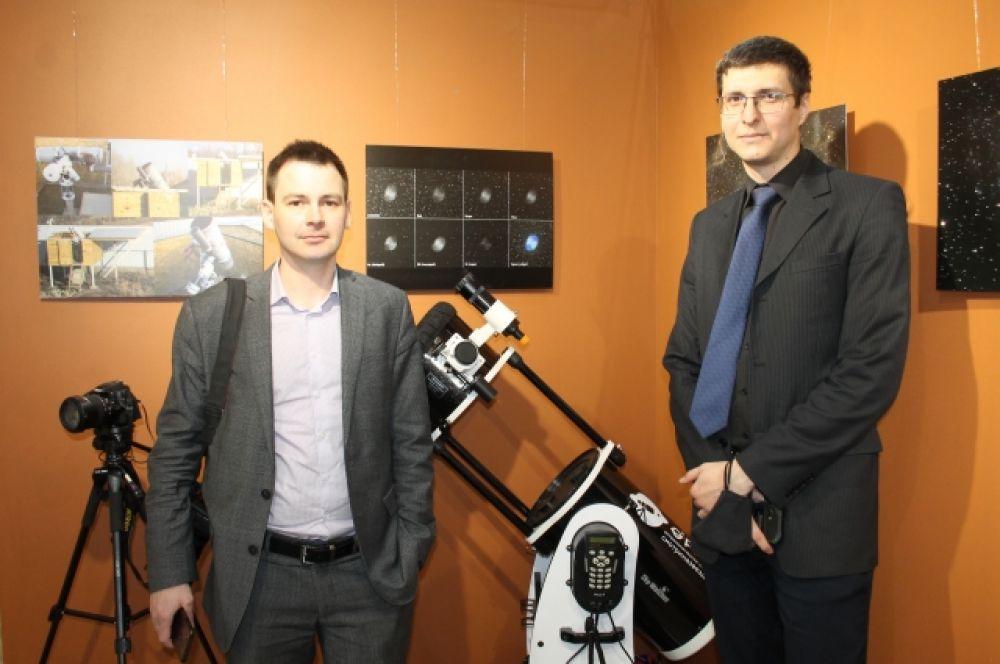 Фотограф Сергей Медведев и инженер-конструктор Михаил Топчило представили оренбуржцам около 40 астрономических фотографий.