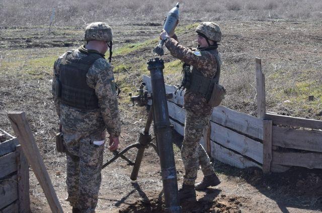 Украинские военные провели учения в районе ООС