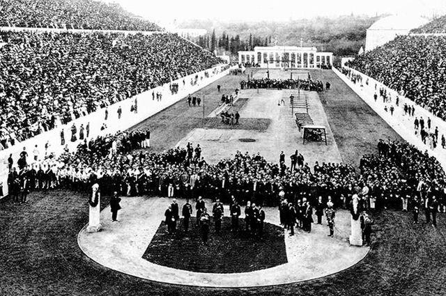 Церемония открытия Олимпиады 1896 г.