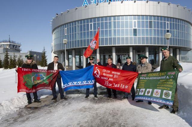 В Салехард прибыл флаг Победы