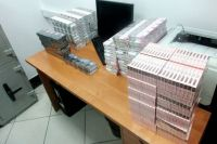 нелегальный табак, изъятый таможенниками в Ростовской области