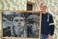 В художественную школу Владимир не ходил, но рисовать умеет