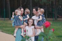 В семье Бородиных, помимо тройняшек, растет еще одна дочь.