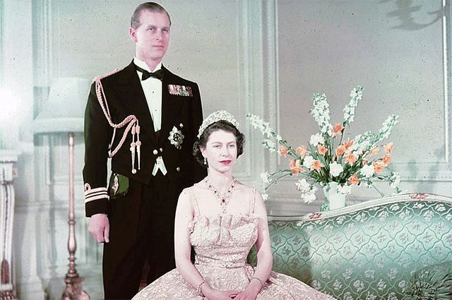 Принцесса Елизавета и герцог Эдинбургский Филипп в 1950 году.