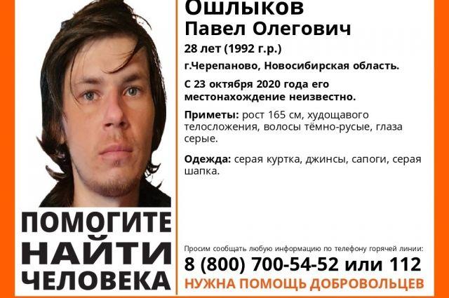 Роста Павла Ошлыкова — 165 сантиметров. Он имеет худощавое телосложение, длинные темно-русые волосы и серые глаза. Был одет в серую куртку, джинсы, сапоги и серую шапку.