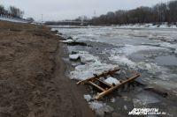 Лед на реке тронулся 10 апреля.