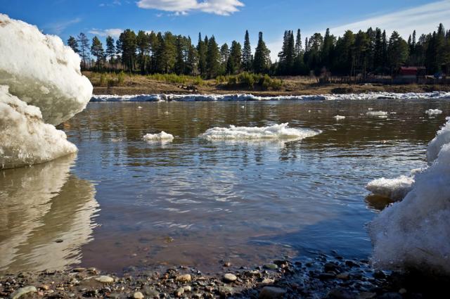 После разлива реки Самары в зоне подтопления изолированным в связи с подъемом воды остается 41 дом.