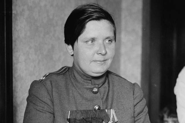 Мария Бочкарева, одна из первых русских женщин-офицеров.