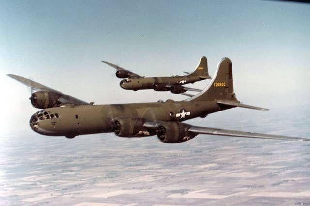 Американский бомбардировщик В-29.