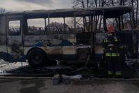 Во Львовской области во время движения загорелся автобус