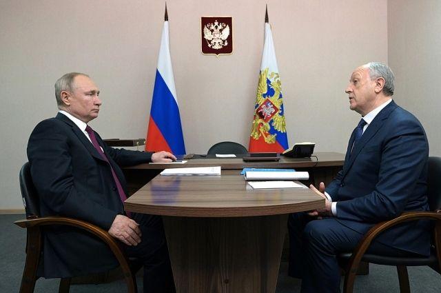 Президент РФ Владимир Путин встретился с Валерием Радаевым