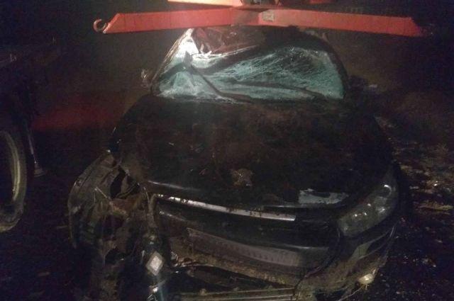 В Удмуртии водитель на легковушке выехал в кювет