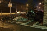 Автомобиль перевернулся, в результате пострадали три человека.