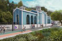 На набережной Урала в оренбурге восстановят здание станции детской железной дороги.