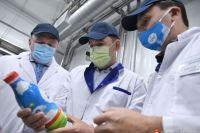 Губернатор посетил в Талице новый производственный комплекс молочного завода.