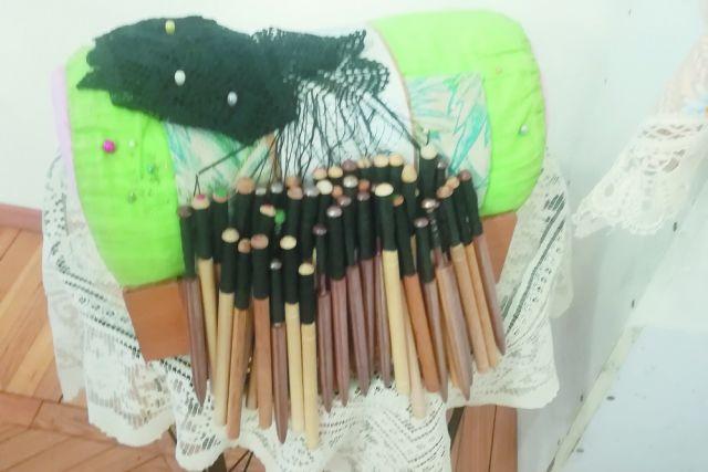 А это те самые волшебные палочки, коклюшки.