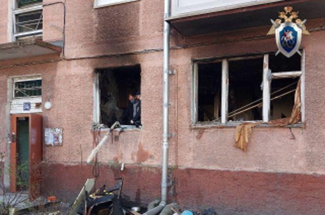 На улице Леонова в Калининграде произошел взрыв бытового газа