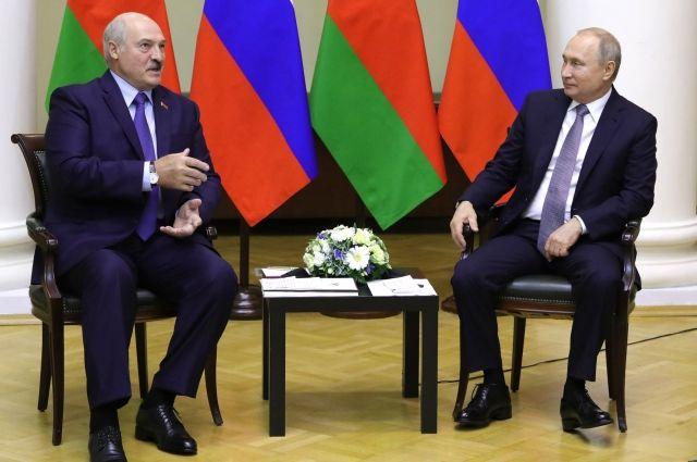 В Кремле сообщили темы встречи Путина и Лукашенко