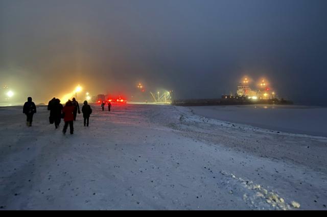 Ледовую переправу Салехард – Лабытнанги закроют до конца недели