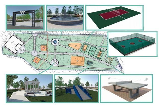 За Домом культуры Володарского района в следующем году может появиться фонтан с ротондой, теннисные столы, поле для мини-футбола, скейт-площадка и горка для катания на ватрушках.